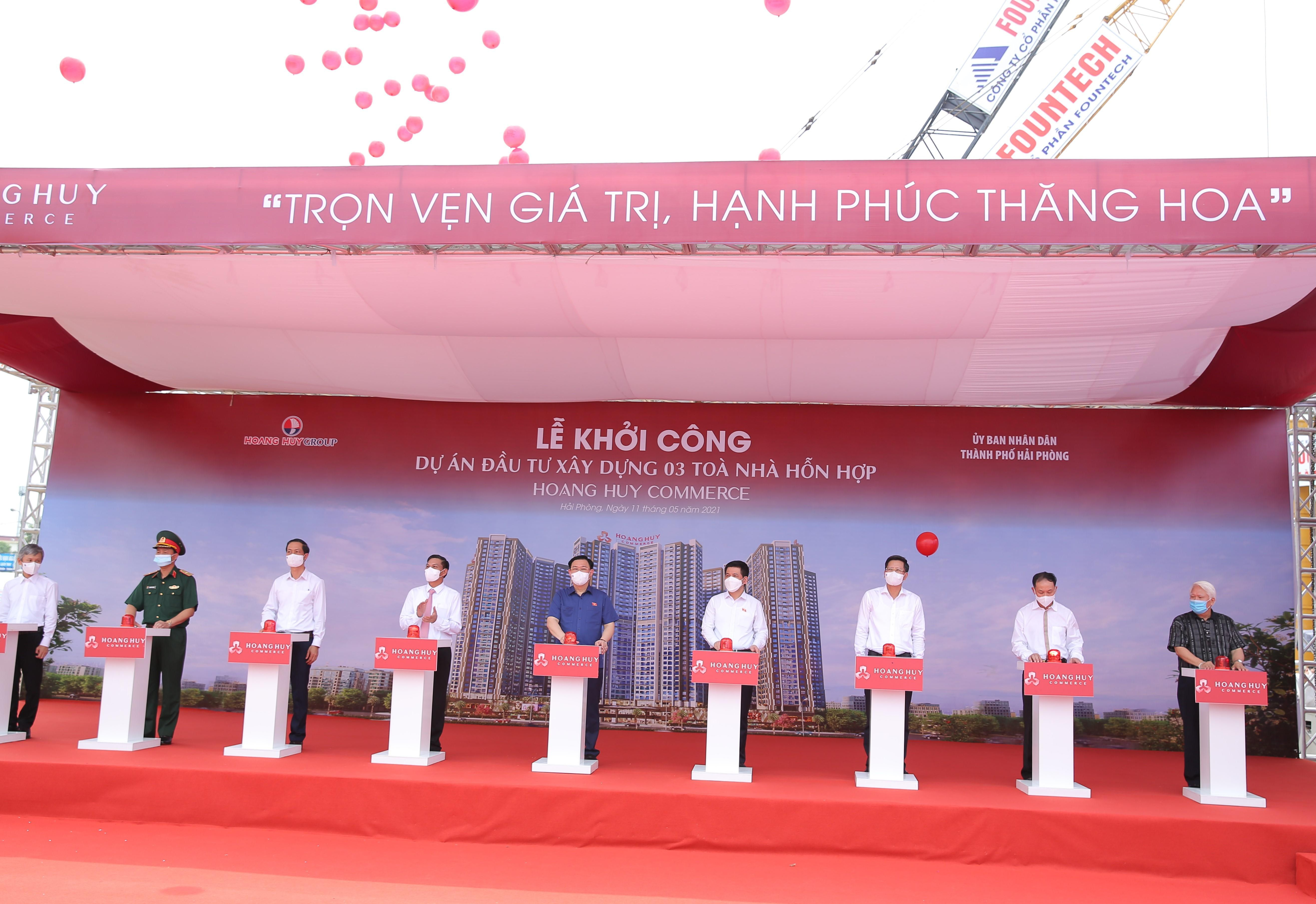 lễ khởi công Hoàng Huy Commerce